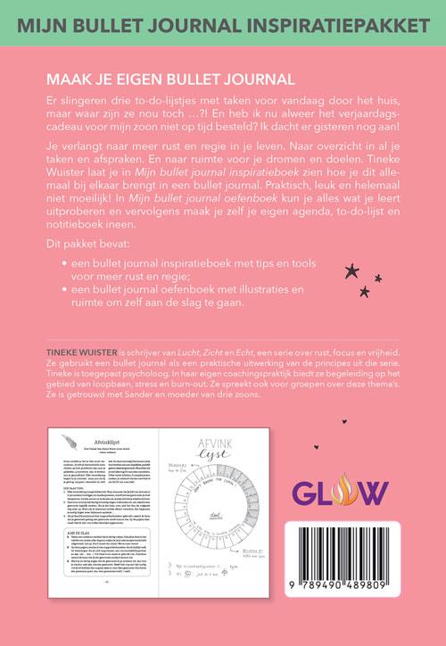 mijn bullet journal inspiratiepakket omslag achter x